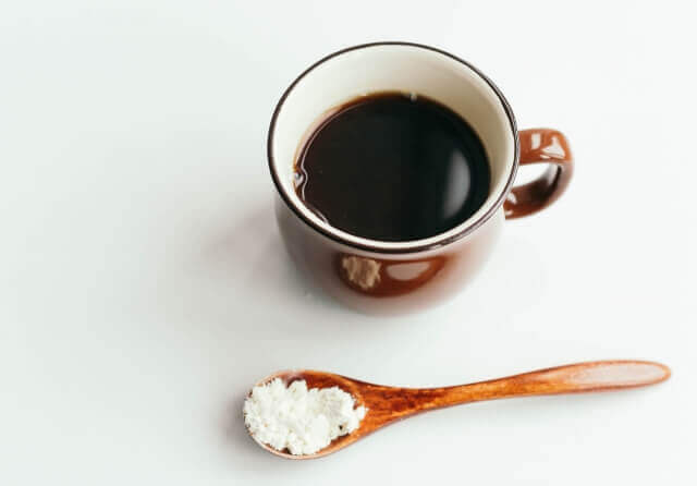 パウダーとコーヒー