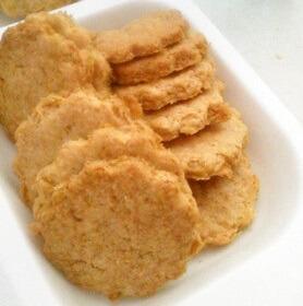 材料4つ★生おからの簡単きな粉クッキー