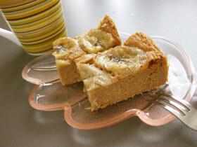 レンジで♪おからと豆腐のバナナケーキ