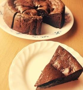糖質制限◆おからパウダー入ガトーショコラ