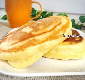 ふわもち@豆腐でヘルシー極厚パンケーキ