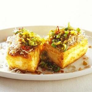 豆腐ステーキ香味ソース